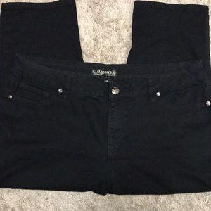 d.jeans black capri pants 16W